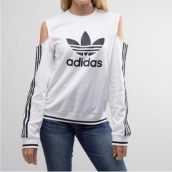 factory outlet wide range reasonable price Adidas Trefoil cut out sweatshirt